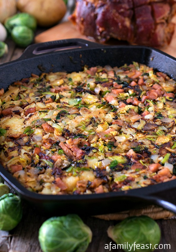 Bubble and Squeak with Ham - A delicious version of the traditional English dish. A great way to cook with leftovers from a holiday meal!