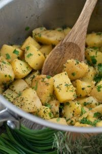 Herbed Boiled Potatoes - A Family Feast
