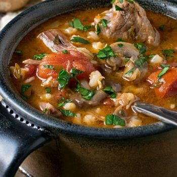 Lamb, Tomato and Barley Soup - A Family Feast