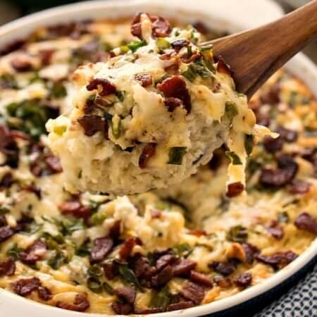 Loaded Mashed Potato Casserole - A Family Feast