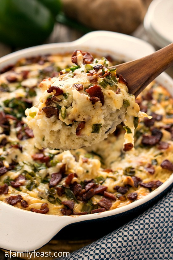 Loaded Mashed Potato Casserole - A Family Feast