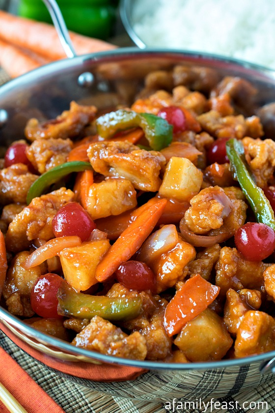 Sweet and Sour Chicken - A Family Feast