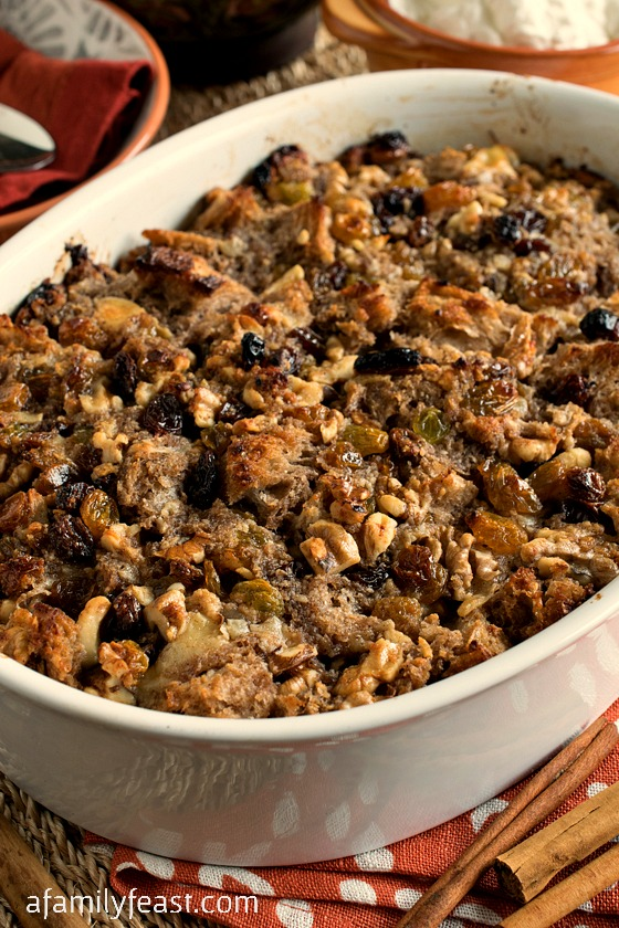 Mexican Bread Pudding - A simple, warm and delicious dessert to complete any Mexican inspired meal.  Perfection in a bowl!
