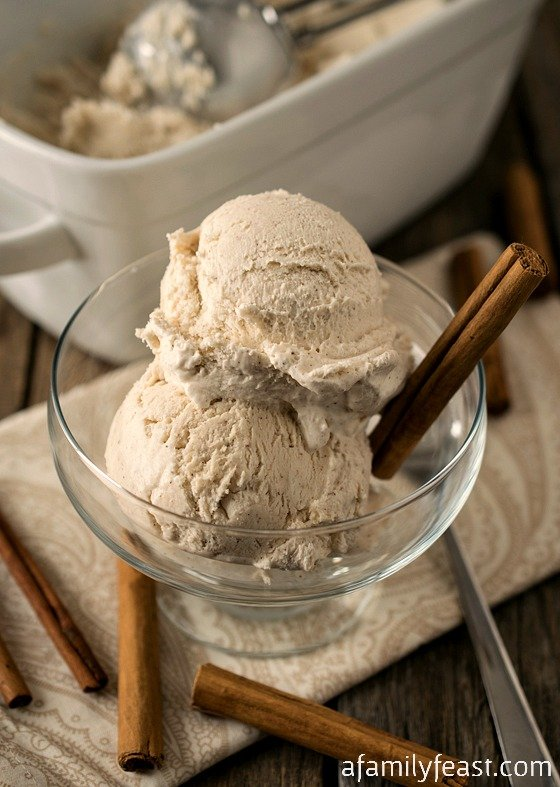No-Churn Cinnamon Ice Cream - Just three ingredients and no ice cream maker needed!