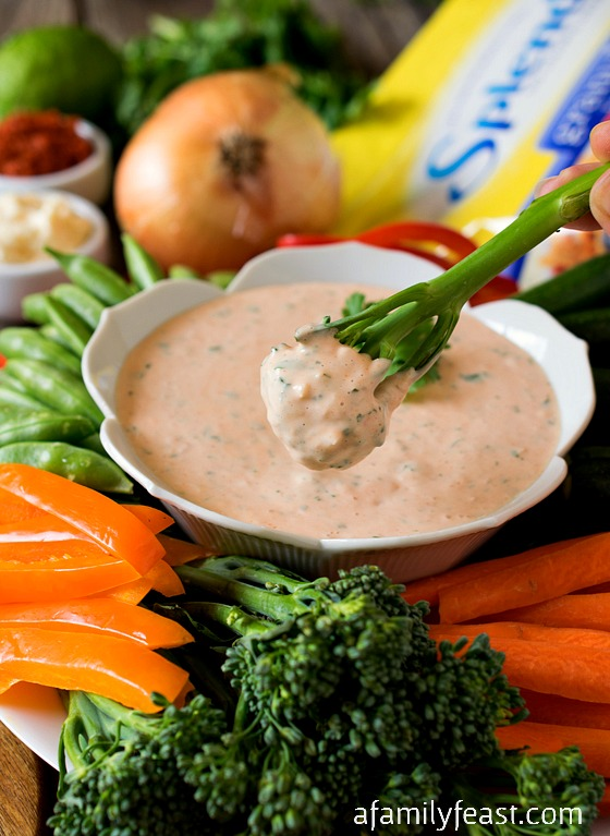 Thai Vegetable Dip - A delicious dip to serve alongside fresh vegetables - or even baked sweet potato fries! #SplendaSweeties #SweetSwaps #ad