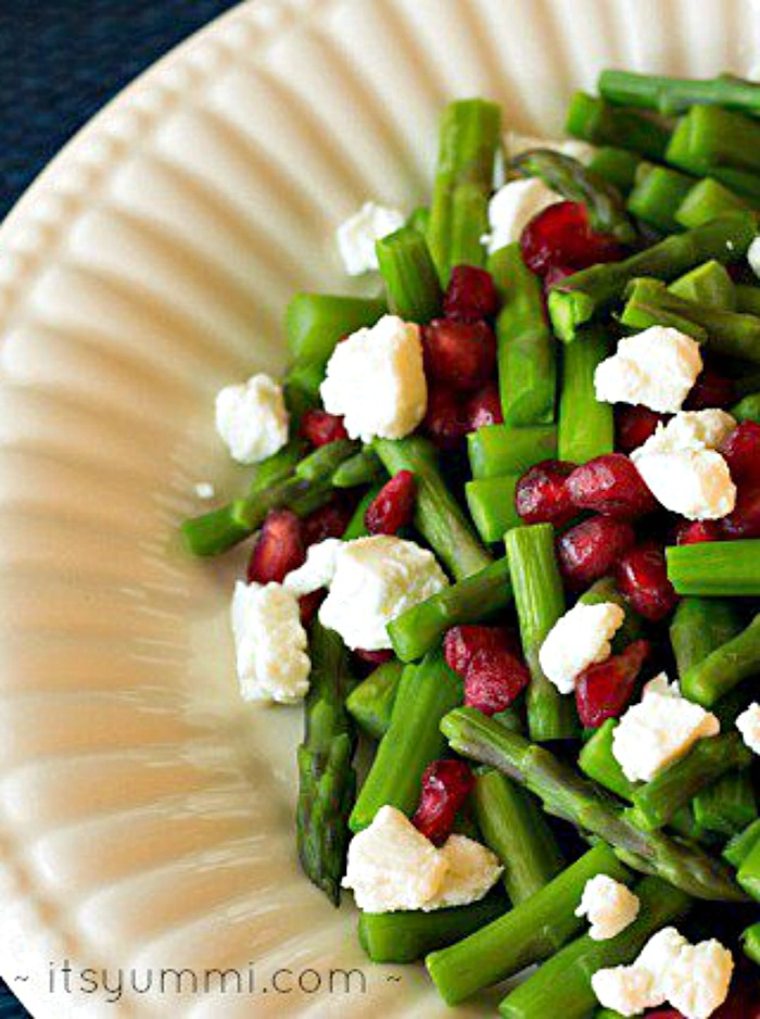 Jeweled Asparagus from It's Yummi - One of over 30 Amazing Asparagus Recipes to give you cooking inspiration this Spring! See the collection on A Family Feast