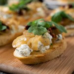 Onion Jam Crostini with Herbed Goat Cheese - A Family Feast
