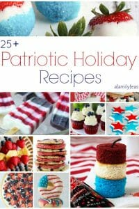 Over 25 delicious patriotic holiday recipes to help you celebrate Memorial Day, 4th of July, Flag Day, or ANY day! | A Family Feast