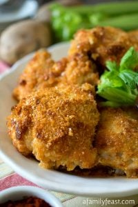 Golden Crusted Baked Chicken - A Family Feast