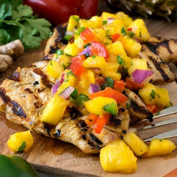 Grilled Marinated Chicken with Tropical Salsa - A Family Feast