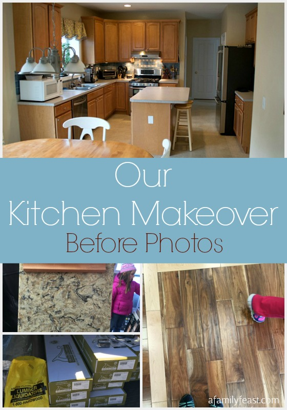 """After 11 years in our home, we're doing a Kitchen Makeover and sharing our """"before"""" photos. Come follow along!"""