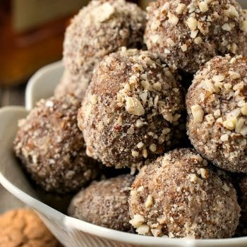 No-Bake Amaretto Truffles - A Family Feast