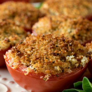 Baked Stuffed Parmesan Tomatoes - A Family Feast