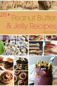 Over 20 delicious peanut butter and jelly recipes for Peanut Butter Jelly Time on A Family Feast