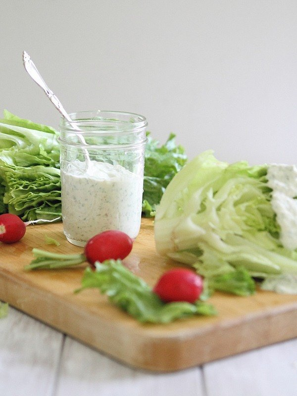 Creamy 3-Herb Salad Dressing Recipe - 1 of over 25 in the salad dressing collection on A Family Feast