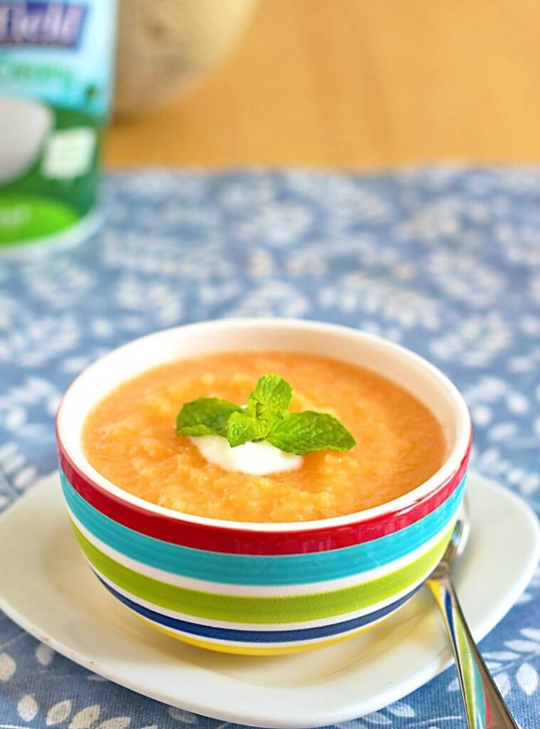 Chilled Cantaloupe Soup - One of over 25 melon recipes in a collection on afamilyfeast.com