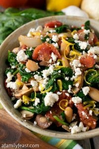 Greek Spinach with White Beans and Feta - A Family Feast