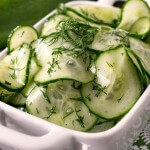 Simple Cucumber Salad - A Family Feast