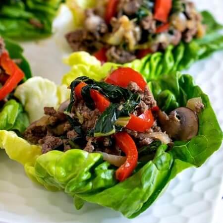 Moo Shu Beef Lettuce Cups - A Family Feast