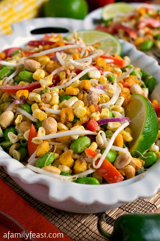 Thai Corn Salad - A delicious Asian-inspired corn salad with fresh flavors and a little bit of crunch!