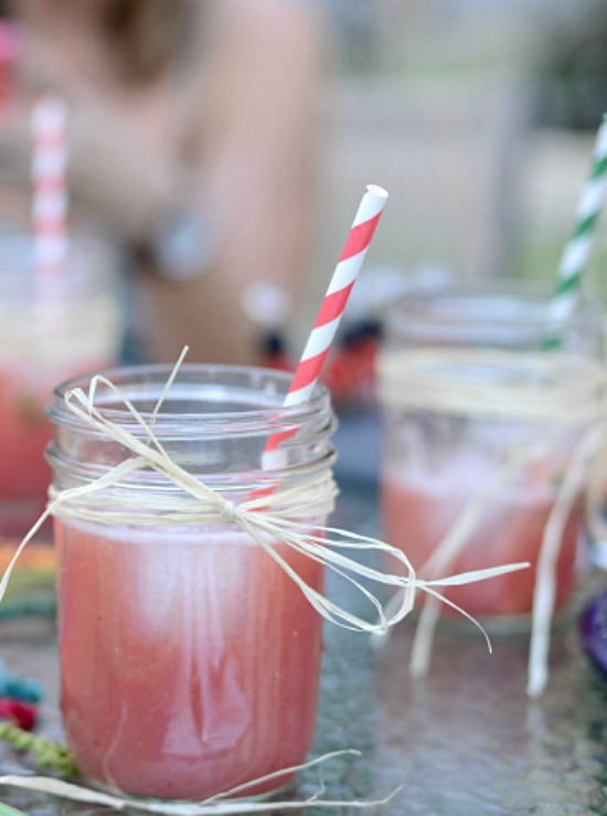 Watermelon Strawberry Agua Fresca - One of over 25 melon recipes in a collection on afamilyfeast.com