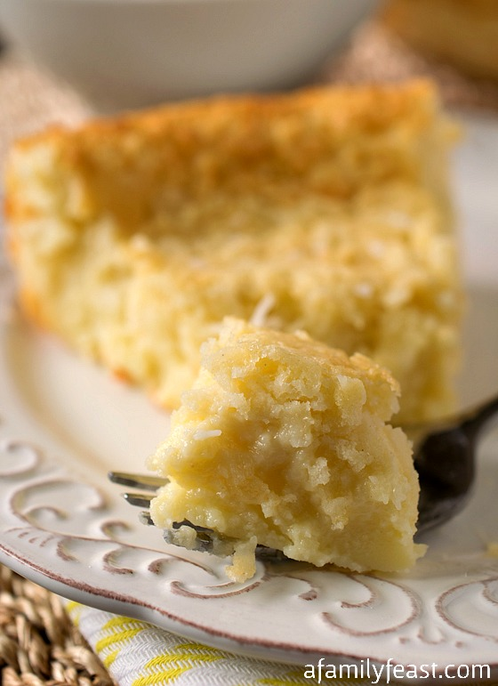 Crustless Coconut Custard Pie - A Family Feast
