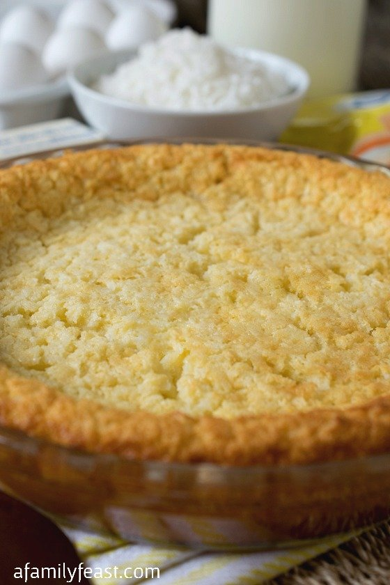 Crustless Coconut Custard Pie - An incredibly simple pie recipe and is perfectly sweet and creamy!