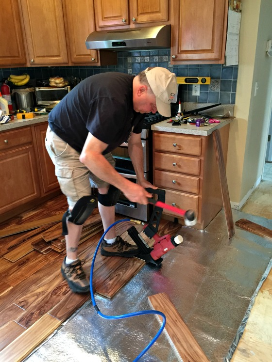 Our Kitchen Makeover: New Hardwood Floors - A Family Feast