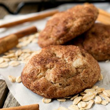 Oatmeal Snickerdoodles - A Family Feast
