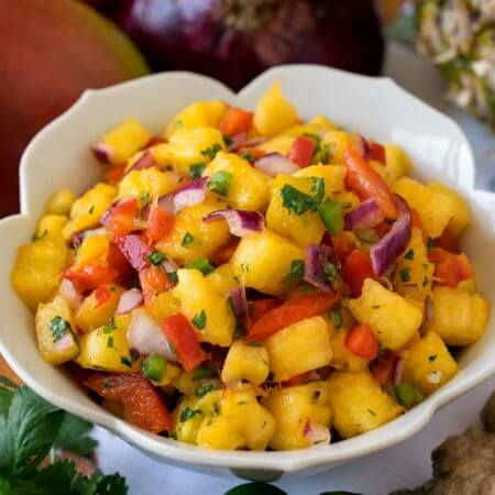 Pineapple Mango Salsa - A Family Feast