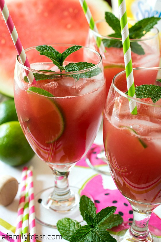 Watermelon Mint Aqua Fresca - A Family Feast