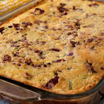Zucchini Corn Bread with Bacon - A Family Feast