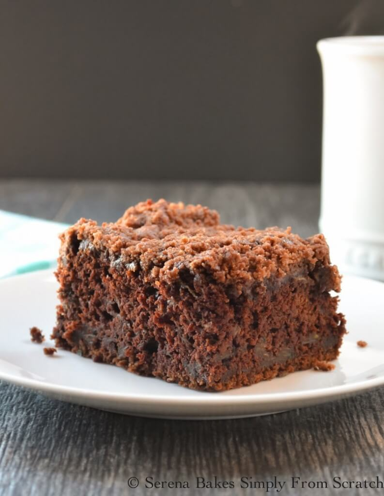 Chocolate Zucchini Coffee Cake - Over 30 delicious recipes to help you use up your bounty of garden zucchini. See the recipes on A Family Feast.
