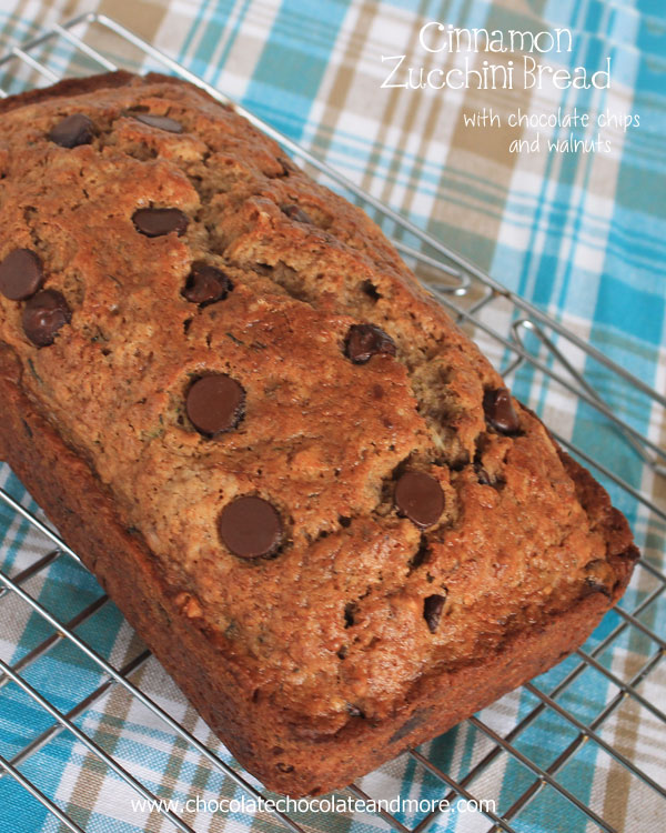 Cinnamon Zucchini Bread - Over 30 delicious recipes to help you use up your bounty of garden zucchini. See the recipes on A Family Feast.