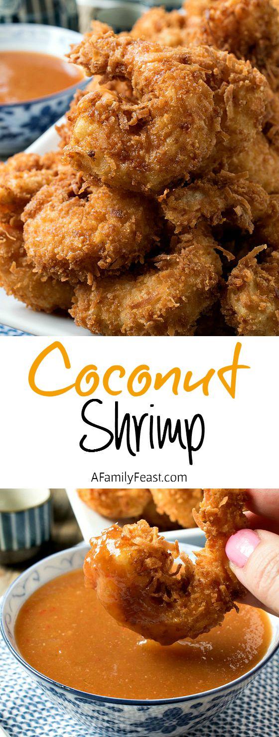 Coconut Shrimp - Make this restaurant-quality coconut shrimp at home! Super delicious!