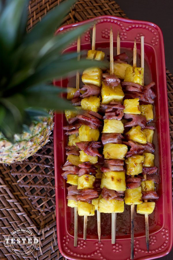25 Sensational Skewer Recipes, including these Grilled Ham and Pineapple Kebabs
