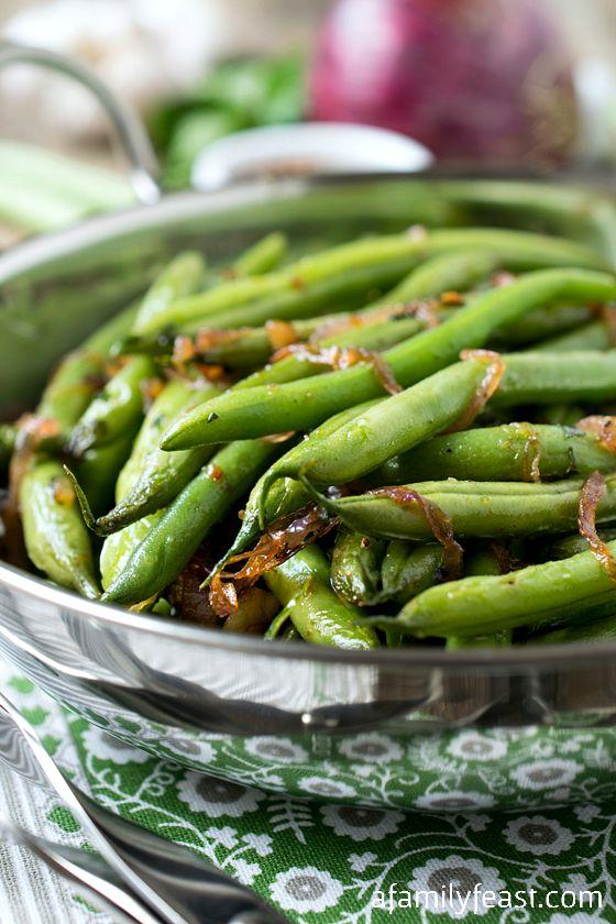 Mario Batali's Green Beans (Fagiolini in Padella) - A simple, fantastic way to prepare fresh green beans.