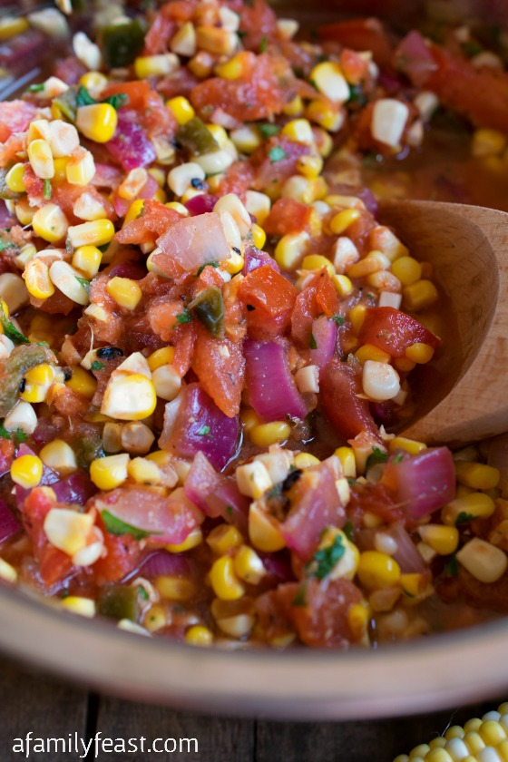 Grilled Corn and Tomato Salsa - A Family Feast