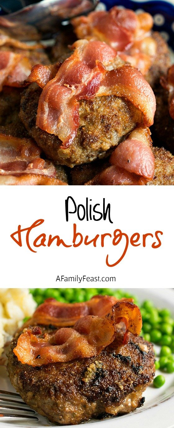 Polish Hamburgers – Simple ingredients and a deliciously different way to prepare burgers!