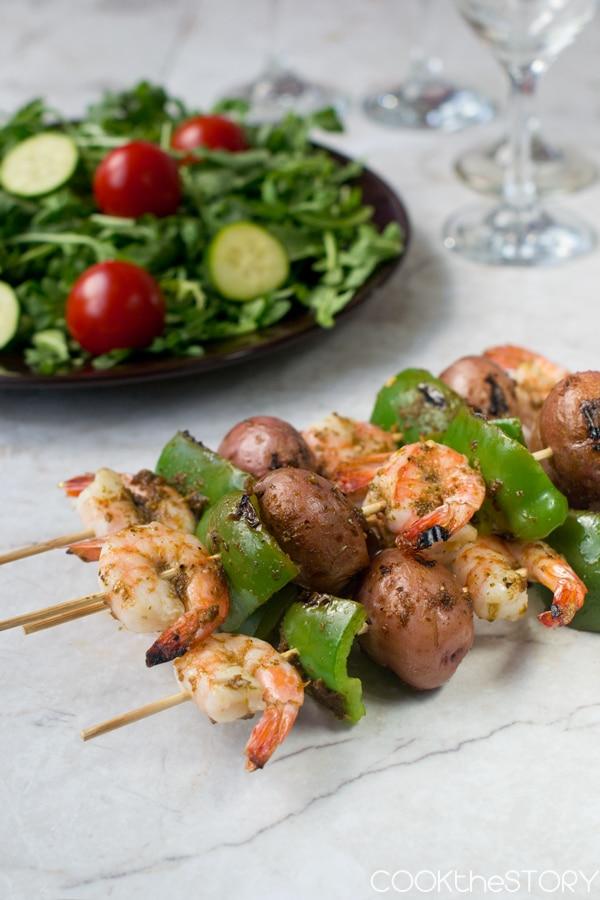 25 Sensational Skewer Recipes, including these Shrimp and Potato Kebabs