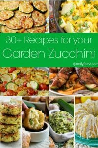 30+ Recipes for Your Garden Zucchini - A Family Feast