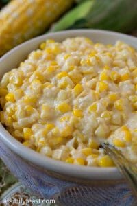 Slow Cooker Creamed Fresh Corn - A Family Feast