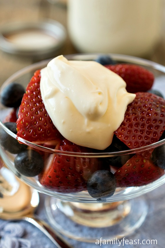 Crème Fraîche - It's easy to make delicious Crème Fraîche  at home!  Just two ingredients and so much cheaper than buying at the supermarket.