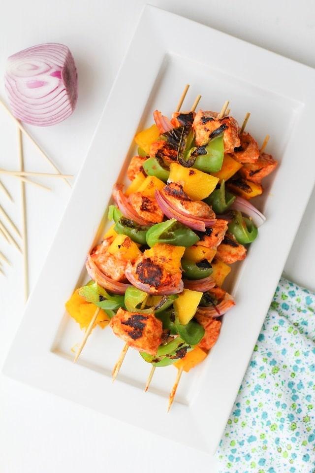 25 Sensational Skewer Recipes, including these Harissa Teriyaki Grilled Chicken Skewers