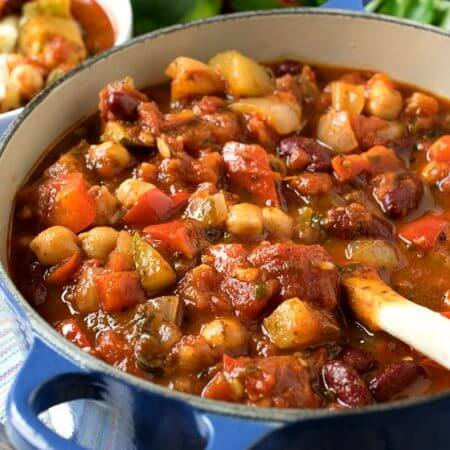 Vegetable Chili - A Family Feast