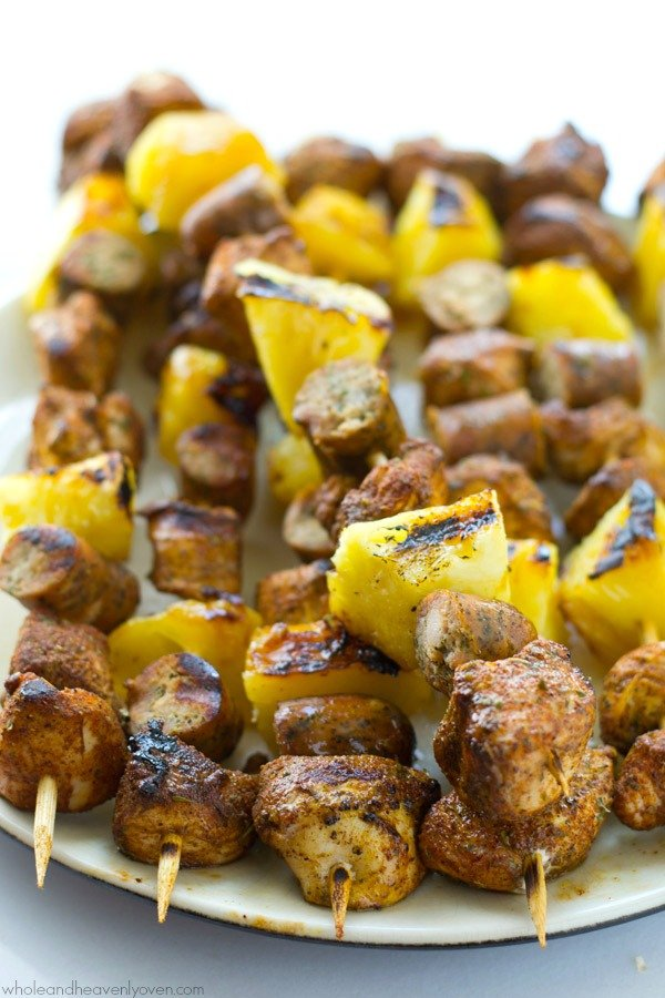 25 Sensational Skewer Recipes, including these Jerk Chicken Kebabs