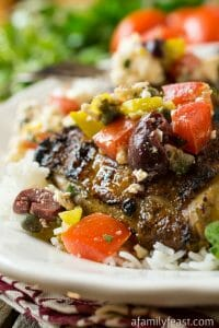 Mediterranean Grilled Chicken - A Family Feast