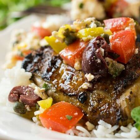Mediterranean Grilled Chicken - A Family Feast