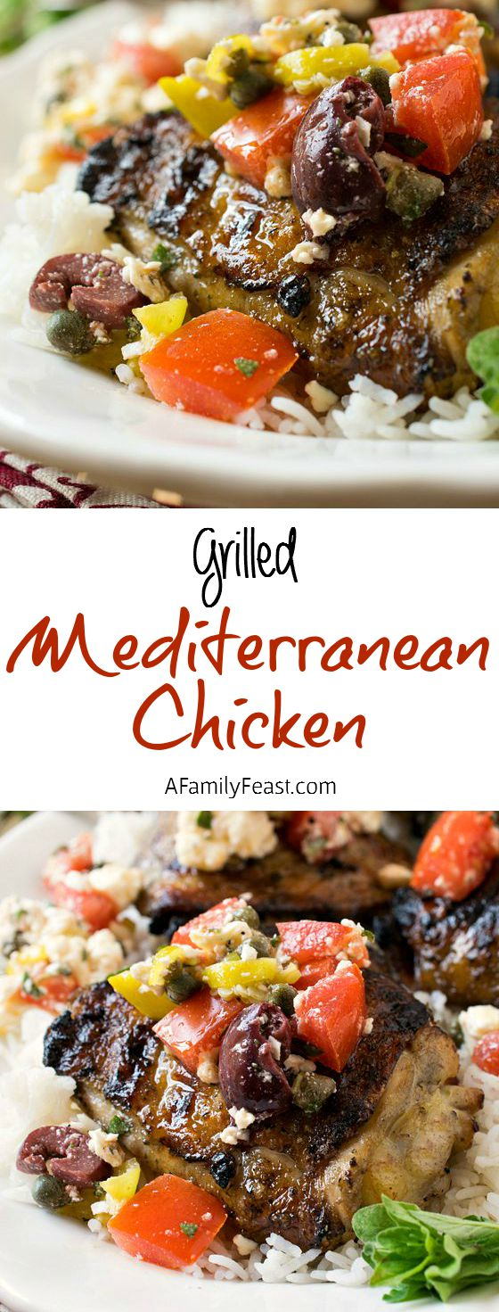 Mediterranean Grilled Chicken - Zesty and super juicy chicken with incredible flavors!