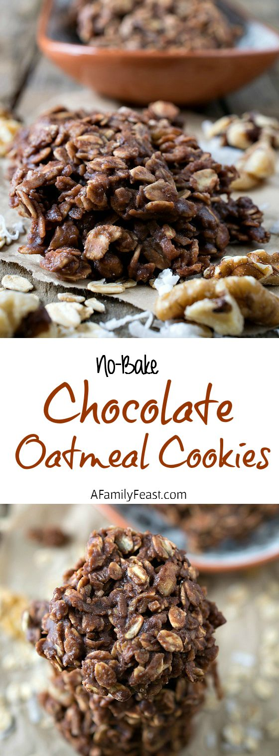 No-Bake Chocolate Oatmeal Cookies - A super simple recipe that is absolutely delicious!